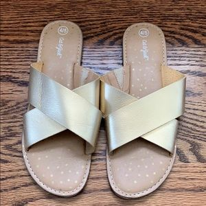Gold sandal slides Cat & Jack 4/5